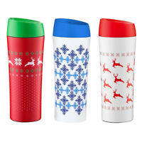 THERMAL MUG 400ml Travel Tumbler Cup INSULATED DOUBLE WALL Coffee TEA WINTER