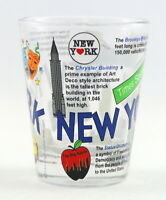 NEW YORK ATTRACTIONS COLLAGE SHOT GLASS SHOTGLASS