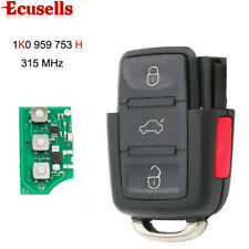 Remote Control Key 3+1 Button 315MHz For VW CC Golf GTI 1K0 959 753 H