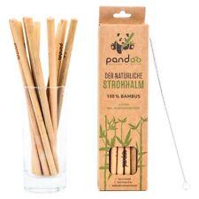 Strohhalme aus Bambus, wiederverwendbare Trink-Röhrchen (12 Stück)