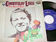 """7"""" - Jerry Lee Lewis Chantilly Lace & Think about it Darlin - 1972 # 5514"""