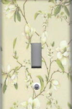 MAGNOLIA ON BEIGE HOME WALL DECOR SINGLE LIGHT SWITCH PLATE COVER