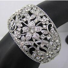 Mariage Cuff Bracelet Clair Diamante strass vintage art deco Mariage Bijoux