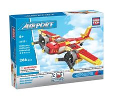 Twin-engine Propeller Plane Airport BricTek Construction Building Block Brick