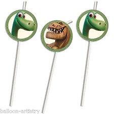 6 Disney Pixar's The Good Dinosaur Children's Party Illustrated Drinking Straws