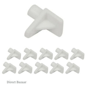 White Shelf Support Bracket Pin Kitchen Unit Cabinet Cupboard Safety Pegs 5mm
