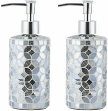 Bathroom Accessory Soap Dispenser-Lotion Bottle dispenser Handmade mosaic glass