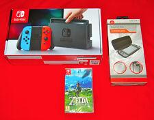 Nintendo Switch 32 GB WiFi Console Bundle-Neon Rosso/Blu-VENON Switch & ZELDA Gioco