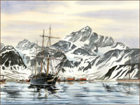"No. 1 of 7 Ernest Shackleton Expedition ""The Adventure Begins"" Giclee Print W/C"