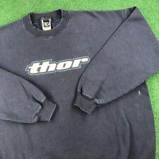 VTG 90S Thor Racing Motocross Dirtbike Promo Crewneck Sweatshirt USA Mens XL