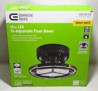 Commercial Electric Model 56517141 Spin Light 10 in. Black LED Flush Mount