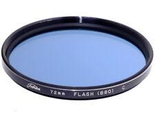 72mm. filtro blu Flash 80B Toshiba. Blue filter.