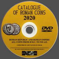 CATÁLOGO MONEDAS ROMANAS 2020 EN DVD - PARA CATALOGAR, CLASIFICAR Y VALORAR