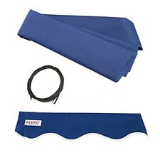 ALEKO Retractable Awning Fabric Replacement For 10x8 Ft Blue Color