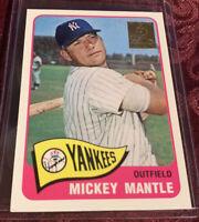 Mickey Mantle 1996 Topps 1965 Commemorative Card #15 New York Yankees MLB HOF'er