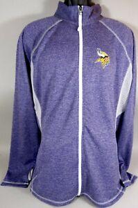 Minnesota Vikings Football Zip Up Sweatshirt Majestic Thumb Holes New Womens XXL