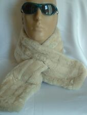 NEW! WHITE Sheepskin, WARM & thick scarf Unisex Real Leather Shearling Lambskin