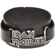 Alchemy England Iron Maiden Logo Leather Wriststrap HRWL447