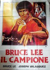 manifesto movie poster 4F BRUCE LEE IL CAMPIONE VALASQUEZ CINEMA ARTI MARZIALI
