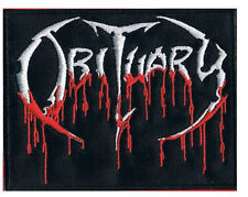 OBITUARY Blood Drip Logo Iron On Sew On Death Metal Jacket Patch 3.4""