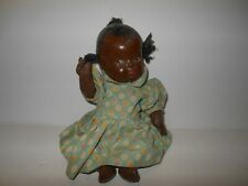 """Vintage African American Composition Doll 1930s -9 1/2"""""""