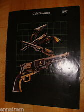 1977 Colt Firearms Catalog Guns Rifles Automatics Revolvers
