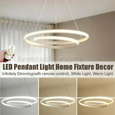 Modern LED Pendant Light Ceiling Lamp Home Dining Room Dimmable Fixture Decor
