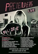 "THE PRETENDERS ""ALONE LIVE TOUR 2017"" U.K. CONCERT POSTER - Chrissie Hynde"