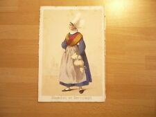 LITHOGRAPHIE ORIGINALE 1850 COSTUME  FEMME DE SOTTEVAST  NORMANDIE