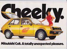 1981 MITSUBISHI RA COLT Australian Market Brochure Like DODGE COLT