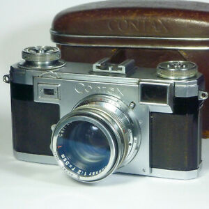 Zeiss Ikon Contax IIA Sonnar 1:2 5cm Lens Vintage Rangefinder Camera 35mm Film