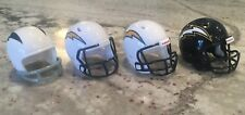 Riddell Pocket Pro football helmets San Diego Chargers lot of 4 different