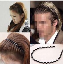 Fashion Mens Women Black Wavy Hair Head Hoop Band Unisex Sport Headband Hairband