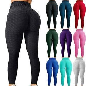 Women Push Up Leggings Anti-Cellulite High Waist Yoga Pants Gym Trousers Tik Tok
