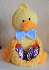 Knitting Pattern DUCKY EGG Knit Your Own Soft Toy Bird Easter Gift- Pattern Only