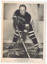 1939-40 O-Pee-Chee V301-1 Les Cunningham Chicago Blackhawks 5 x 7 card ExMt+