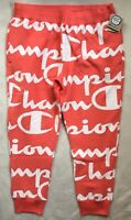 CHAMPION Mens Reverse Weave Jogger Sweatpants All Over Script Logo NWT LARGE