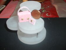 Casa de muñecas en miniatura Bolso de Mano Cartera Cuero Polvoriento Rosa Y