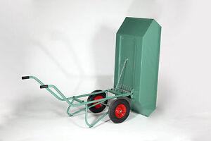 Kippkarre 450 Liter lackiert mit Feder Hofkarre Mistkarre kippbar