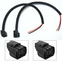 Extension Wire Pigtail Female P13W 12277 DRL Light Two Harness Bulb Socket Plug