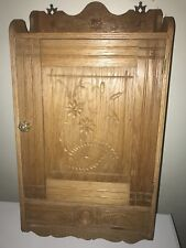 Antique Victorian PIE CARVED Wall CABNET CUBBORD RARE
