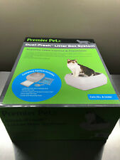 Premier Pet Dual-Fresh Litter Box System - Superior Odor Control Easy Cleanup