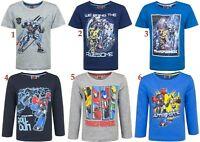 Boys Kids Children Transformers Short Long Sleeve Tee T Shirt Top age 3-8 years