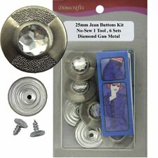 25 mm No-Sew Replacement Jean Tack Buttons w/Tool (25P2)  6 CT.