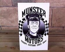 """MUNSTER MOTORS"" vintage style RAT ROD DECAL racing STICKER hot Herman, grandpa"