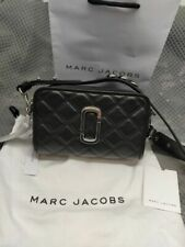 Genuine Marc Jacobs THE QUILTED SOFTSHOT 21 Leather crossbody Bag black sales