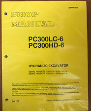 Komatsu PC300HD-6LE, PC300LC-6LE Service Repair Printed Manual