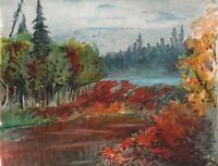 UNITED STATES OREGON LANDSCAPE Antique Watercolour Painting 1919 USA