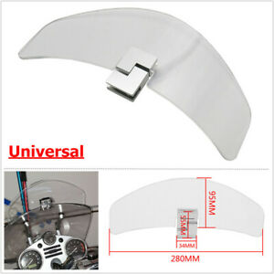 Motorcycle Front Upper ClipOn Heighten Windshield Deflector Fit For Yamaha Honda