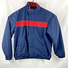 Tommy Hilfiger Mens L Jacket Full Zip Long Sleeve Flag Blue